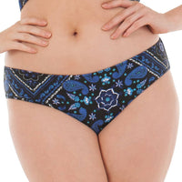 Curvy Kate Peachy Pairs Reversible Short - Black/ Blue Mix