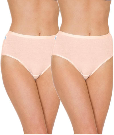 Triumph Sloggi Hikini 2 Pack Midi Brief - Fresh Powder - Front View