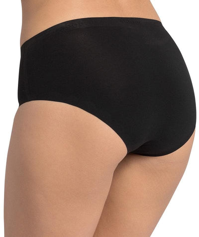 Triumph Sloggi Invisible Supreme Cotton Midi Brief - Black - Back View