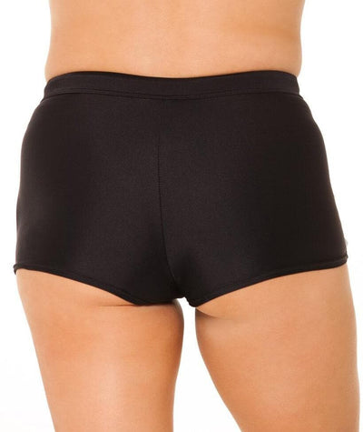 Capriosca Plain Matt Boyleg Pant - Black Swim