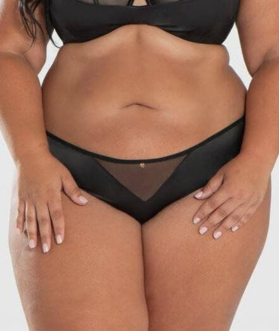 Scantilly Peek A Boo Brief - Black - Front - 2