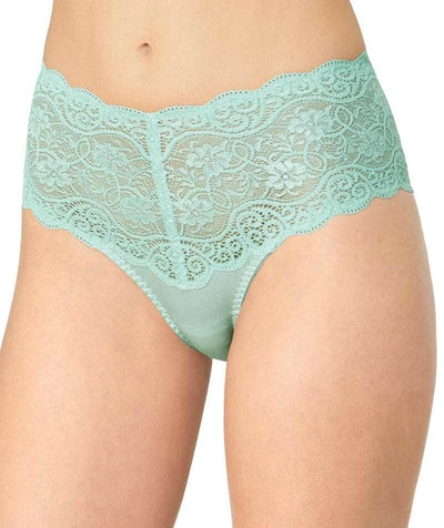 Triumph Amourette Maxi Brief - Fondant Green - Front