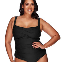 Artesands Botticelli Twist Front B-DD Cup One Piece Swimsuit - Black