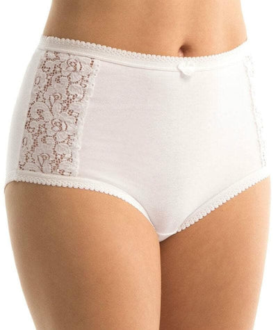 Triumph Cotton & Lace Full Brief - White Knickers 12