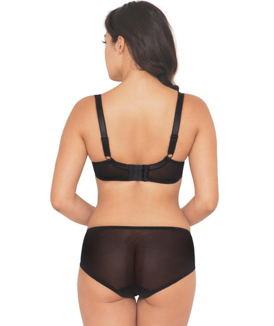 Curvy Kate Trixie Padded Balcony Bra - Black/ Mulberry