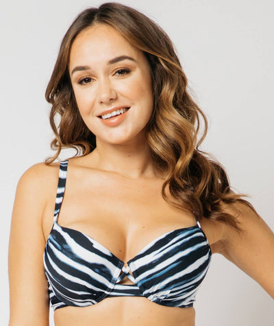 "Nip Tuck Moulded D - DD Cup Underwire Bra Jet Stream ""Front"""