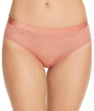 Berlei Barely There Lace Bikini Brief - Blush - Front