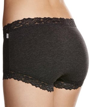 Jockey Parisienne Cotton Marle Full Brief - Charcoal Marle Knickers 10