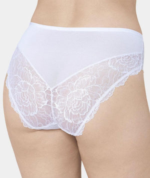 Florale Peony Maxi Brief - White Knickers 12