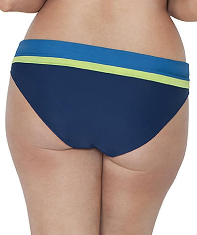 Curvy Kate Maya Fold Over Brief - Blue Mix - Back