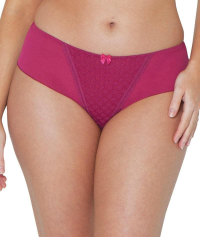 Curvy Kate Dottie Short - Sangria Knickers 8