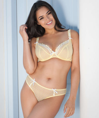 Curvy Kate Princess Brazilian Brief - Lemon Knickers