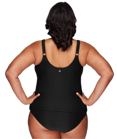 Artesands Delacroix Cross Front D-G Cup Tankini Top - Black - Back