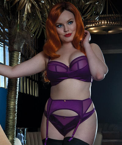 "Scantilly Peek A Boo Thong - Violet ""front"""