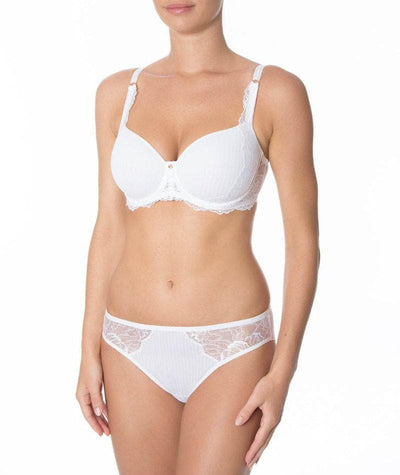 Florale Peony Spacer Bra - White - Model