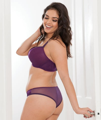 Curvy Kate Smoothie Soul Brazilian Brief - Purple/Sangria - Model - Front