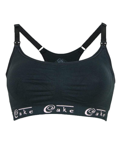 Cake Maternity Cotton Candy Seamless Sleep & Yoga Nursing Bra - Black Bras