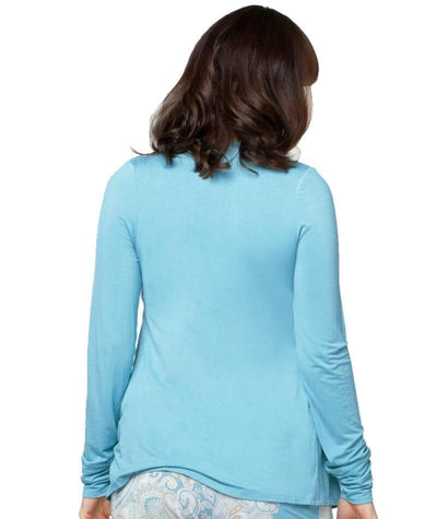 Cake Maternity Crème Brulee Long Sleeve Nursing Top - Blue Maternity