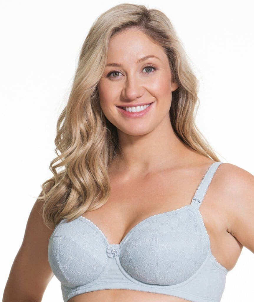 0874b92873e51 Cake Maternity Frosted Parfait Flexi Wire Balconette Lace Nursing Bra - Ice  Grey