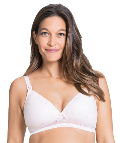 Cake Maternity Mousse Padded Plunge Wireless Nursing Bra -  Rose