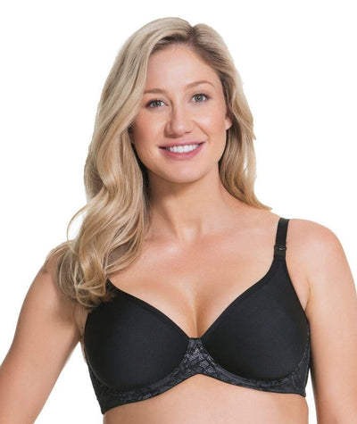 Cake Maternity Waffles 3D Spacer Contour Flexi Wire Nursing Bra - Black Bras