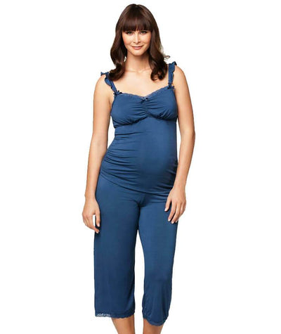 Cake Maternity Blue Berry Torte Lounge Pant - Blue Maternity