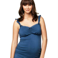 Cake Maternity Blue Berry Torte Maternity & Nursing Camisole - Blue