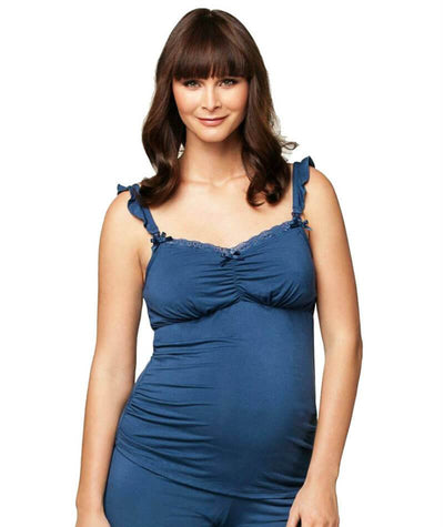 Cake Maternity Blue Berry Torte Maternity & Nursing Camisole - Blue Maternity