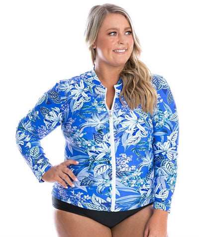 Capriosca Long Sleeve Rash Vest - Blue Hawaii Swim