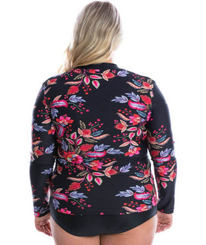 Capriosca Long Sleeve Rash Vest - Wild Berries Swim