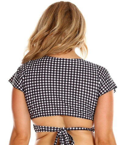 Capriosca Wrap Top - Retro Check
