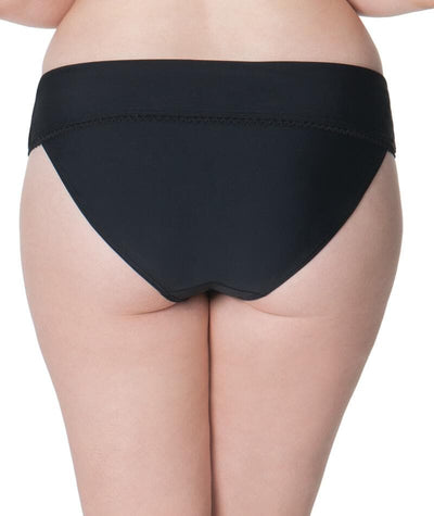 Curvy Kate Jetty Fold Over Bikini Brief - Black