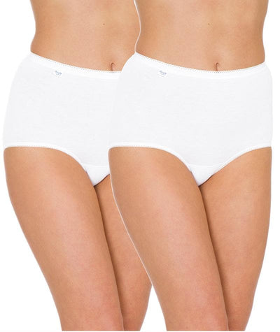Triumph Sloggi Maxi Brief 2 Pack - White - Front View