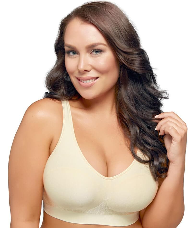 "Playtex Play Comfort Revolution Wire-Free Bra - Light Beige ""Front"""