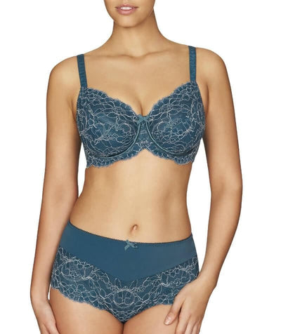 Fayreform Blossoming Lace Underwire Bra - Legion Blue/Pink Champagne - Model - Front