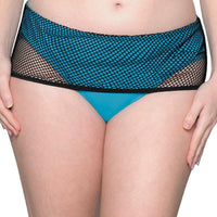 Curvy Kate Catch Of The Day Deep Foldover Brief - Black/Blue
