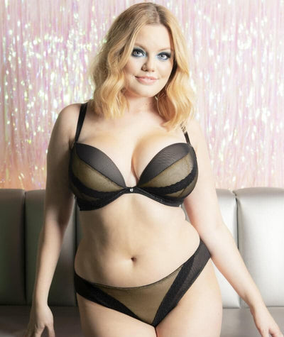 Curvy Kate Superplunge Lace Plunge Bra - Black