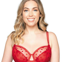 Curvy Kate Top Spot Balcony Bra - Red
