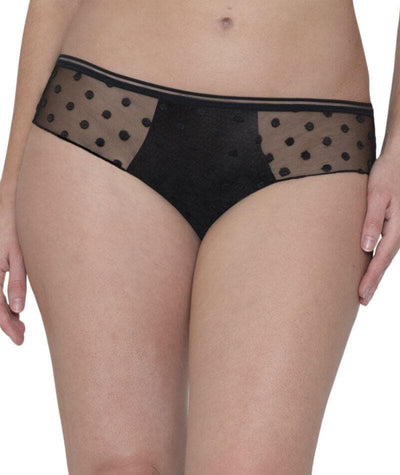 Curvy Kate Top Spot Short - Black Knickers