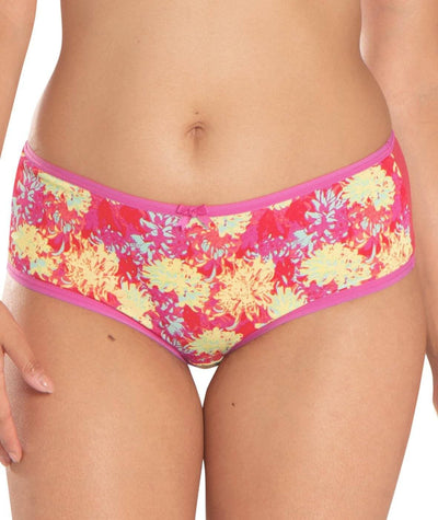 Curvy Kate Blossom Short - Red Print - Front