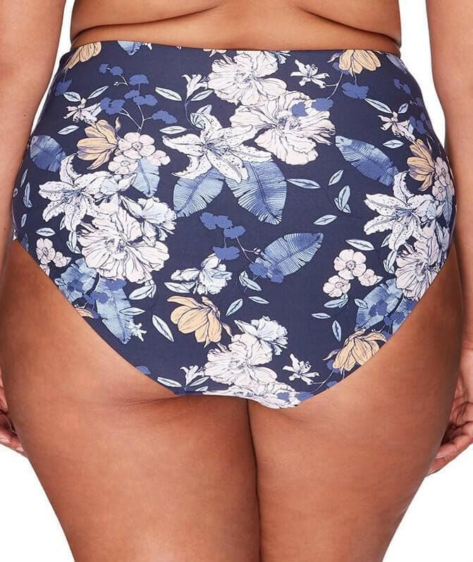 Artesands Rouched Side High Waist Brief - Blossom Assemblage - Front