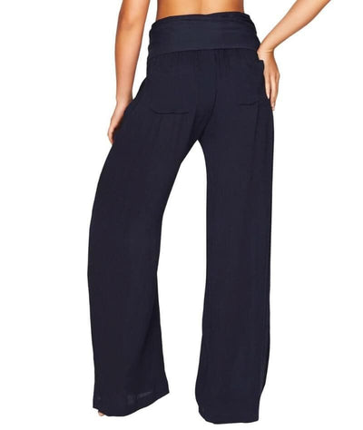 Sea Level Plains Folded Band Beach Pant - Night Sky Navy - Back