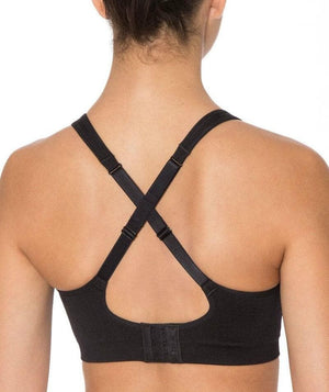 Triumph Triaction Seamfree Crop Top Bra - Black - Front