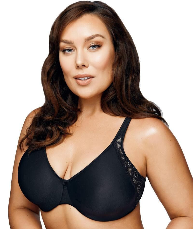 074616e3efe Playtex Side Support and Smoothing Minimiser Bra - Black  Soft Taupe ...