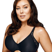 Playtex Side Support and Smoothing Minimiser Bra - Black/ Soft Taupe