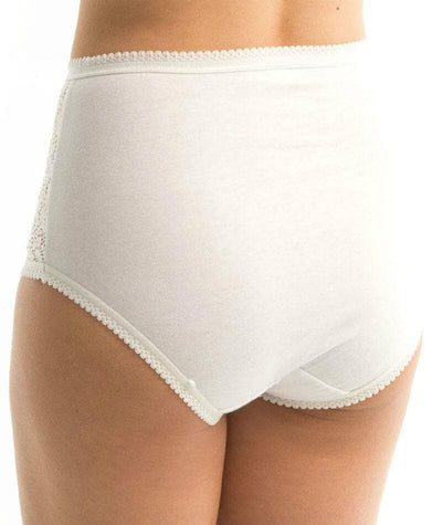 Triumph Cotton & Lace Full Brief - White - Back