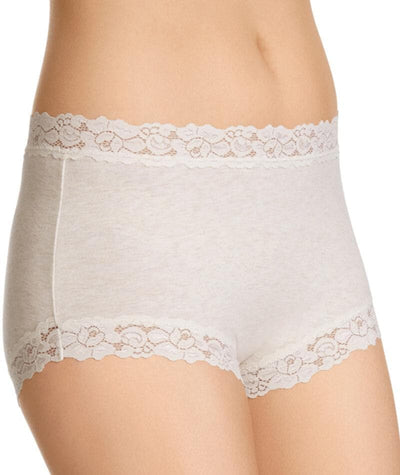 Jockey Parisienne Cotton Marle Full Brief - Vanille Knickers