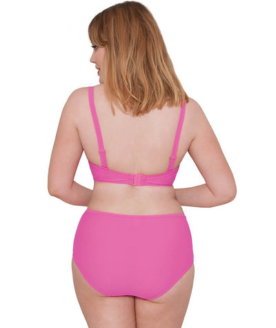 "Cuvy Kate Hi Voltage Brief Shocking Pink ""Back"""