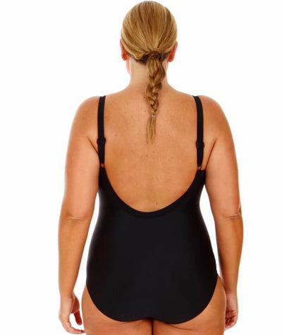 "Capriosca Black	One Piece with Bow 10- 20 ""back view"""