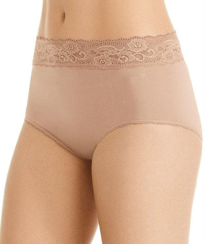 Berlei Barely There Deluxe Full Brief - Nude Lace - Side